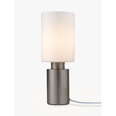 John Lewis River Touch Table Lamp, Satin Nickel