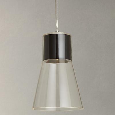 John Lewis Skye LED Glass Pendant Ceiling Light, Black