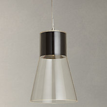 Buy John Lewis Skye LED Glass Pendant Ceiling Light, Black Online at johnlewis.com