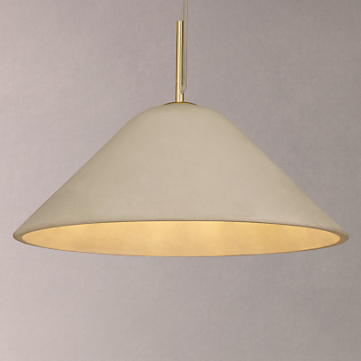 Design Project by John Lewis No.060 Ceiling Pendant Light, Concrete/Brass