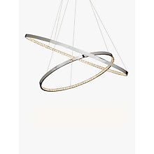 Buy John Lewis Zephyr LED Dual Ring Pendant Ceiling Light, Silver/Metallic Online at johnlewis.com