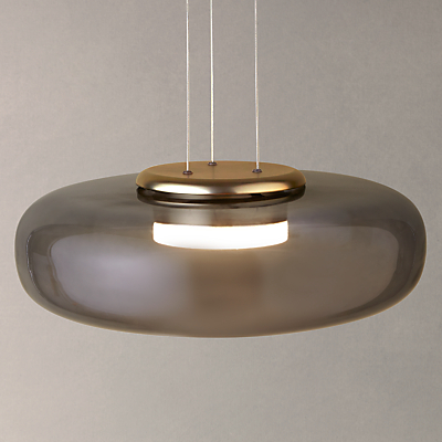 Design Project by John Lewis No.014 UFO LED Pendant Ceiling Light, Smoke