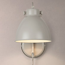 Buy John Lewis Norton Stone with Cable Wall Light, Grey Online at johnlewis.com