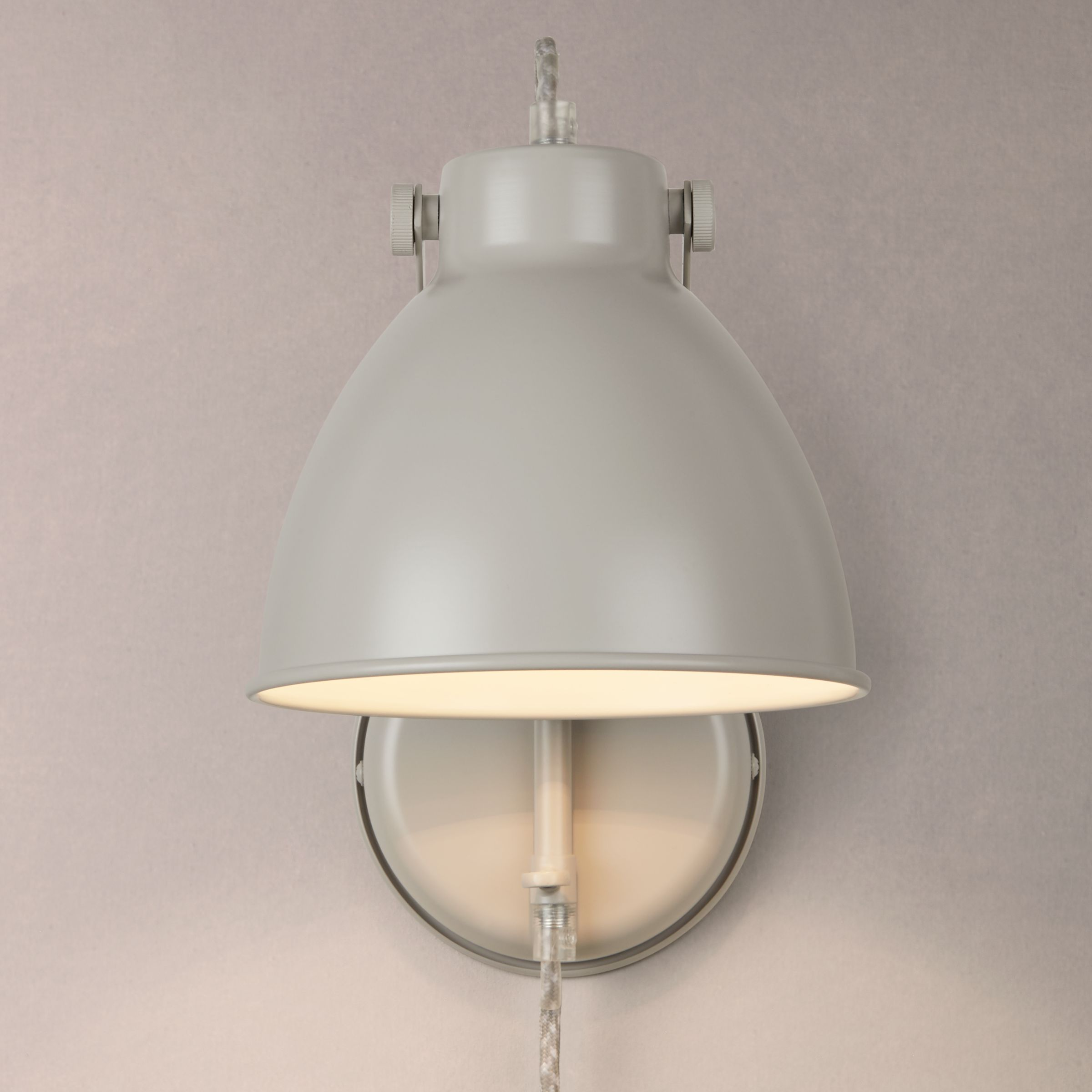 Wall Light With Cable : Buy John Lewis Norton Stone with Cable Wall Light, Grey John Lewis