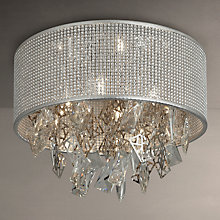 Buy John Lewis Tiffany Mesh Semi Flush Ceiling Light, Silver Online at johnlewis.com