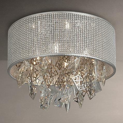 Buy John Lewis Tiffany Semi Flush Ceiling Light Silver