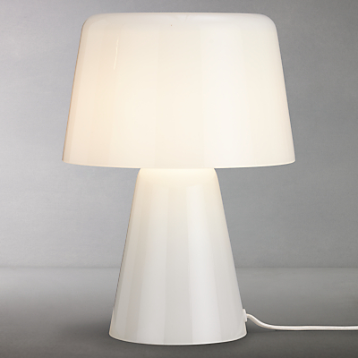 Design Project by John Lewis No.001 Small Glass Table Lamp, Opal