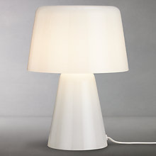 Buy Design Project by John Lewis No.001 Small Glass Table Lamp, Opal Online at johnlewis.com