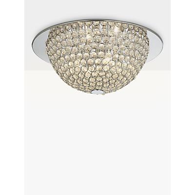 John Lewis Moon Semi Flush Ceiling Light, Silver/Clear