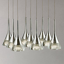 Buy John Lewis Zion LED Cones Square Plate Ceiling Light, 9 Light, Clear/Chrome Online at johnlewis.com
