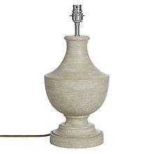 Buy John Lewis Spencer Small Lamp Base, Sand Online at johnlewis.com