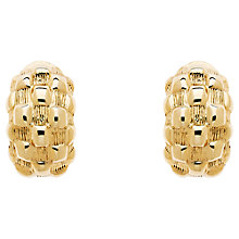 Buy Monet Chequer Half Moon Clip-On Earrings Online at johnlewis.com