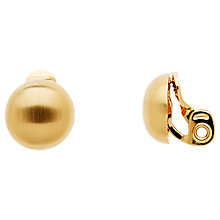 Buy Monet Satin Half Ball Clip-On Earrings Online at johnlewis.com