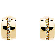 Buy Monet Swarovski Crystal Half Hoop Clip-On Earrings Online at johnlewis.com