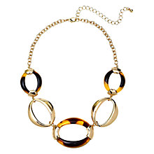 Buy Adele Marie Resin Link Necklace, Tortoise/Gold Online at johnlewis.com
