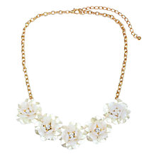 Buy Adele Marie Beaded Flower Necklace, White/Gold Online at johnlewis.com