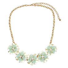 Buy Adele Marie Round Flower Charm Necklace, Gold/Pale Green Online at johnlewis.com