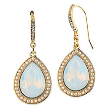 Buy Adele Marie Pear Shape Bead and Faux Pearl Drop Earrings, Gold/Crystal Blue Online at johnlewis.com