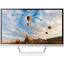 "Buy HP Pavilion 27xw TechniColour Certified IPS Full HD Monitor, 27"", Piano White Online at johnlewis.com"
