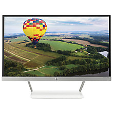 "Buy HP Pavilion 24xw TechniColour Certified IPS Full HD Monitor, 23.8"", Piano White Online at johnlewis.com"