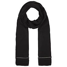 Buy Jacques Vert Chiffon Embellished Shawl, Black Online at johnlewis.com