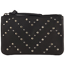 Buy Collection WEEKEND by John Lewis Memphis Stud Coin Purse, Black Online at johnlewis.com