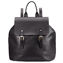 Buy Somerset by Alice Temperley Hurst Leather Backpack, Black Online at johnlewis.com