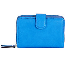 Buy John Lewis Tony Medium Flap-Over Purse, Coastal Blue Online at johnlewis.com