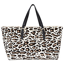 Buy Somerset by Alice Temperley Tarnock Leather Tote Bag, Animal Print Online at johnlewis.com