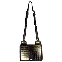 Buy Somerset by Alice Temperley Yarley Mini Studded Leather Across Body Bag, Black Online at johnlewis.com