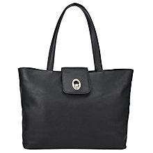 Buy John Lewis Patricia Leather Tote Bag, Black Online at johnlewis.com