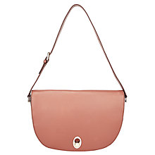 Buy John Lewis Patricia Leather Saddle Bag, Nude Online at johnlewis.com