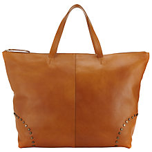 Buy Collection WEEKEND by John Lewis Leather Stud Tote Bag, Tan Online at johnlewis.com