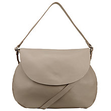 Buy John Lewis Morgan Leather Large Across Body Bag, Taupe Online at johnlewis.com
