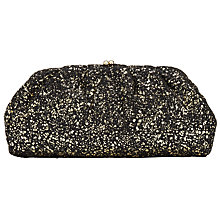 Buy John Lewis Jules Metallic Splatter Clutch Bag, Black Online at johnlewis.com