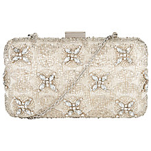 Buy John Lewis Tara Crystal Clutch, Silver Online at johnlewis.com