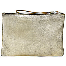 Buy Collection WEEKEND by John Lewis Sadie Leather Clutch Bag, Gold Online at johnlewis.com