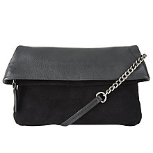 Buy Collection WEEKEND by John Lewis Mini Mia Leather Clutch Bag, Black Online at johnlewis.com
