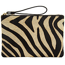 Buy Collection WEEKEND by John Lewis Sadie Pony Clutch Bag, Black / White Online at johnlewis.com