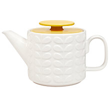 Buy Orla Kiely Raised Stem Teapot, Yellow Online at johnlewis.com