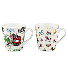 Buy Cath Kidston Stanley Mini Billie Goes To Town Mugs, Set of 2 Online at johnlewis.com