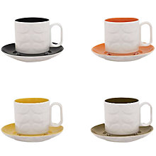 Buy Orla Kiely Raised Stem Espresso Cup & Saucer, Set of 4 Online at johnlewis.com