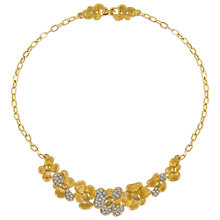 Buy Eclectica Vintage 1980s Monet Gold Plated Glass Crystal Floral Necklace, Gold/Silver Online at johnlewis.com