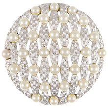 Buy Eclectica Vintage 1960s Trifari Chrome Plated Faux Pearl Brooch, Silver Online at johnlewis.com