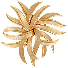 Buy Eclectica Vintage 1980s Trifari Gold Plated Abstract Flower Brooch, Gold Online at johnlewis.com