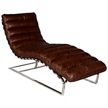 Buy Halo Joel Leather Chair, Antique Whisky Online at johnlewis.com