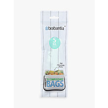 Buy Brabantia Compostable Bin Liners, Roll of 10, 6L Online at johnlewis.com