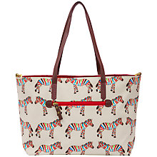 Buy Pink Lining Notting Hill Tote Changing Bag, Zebra Online at johnlewis.com