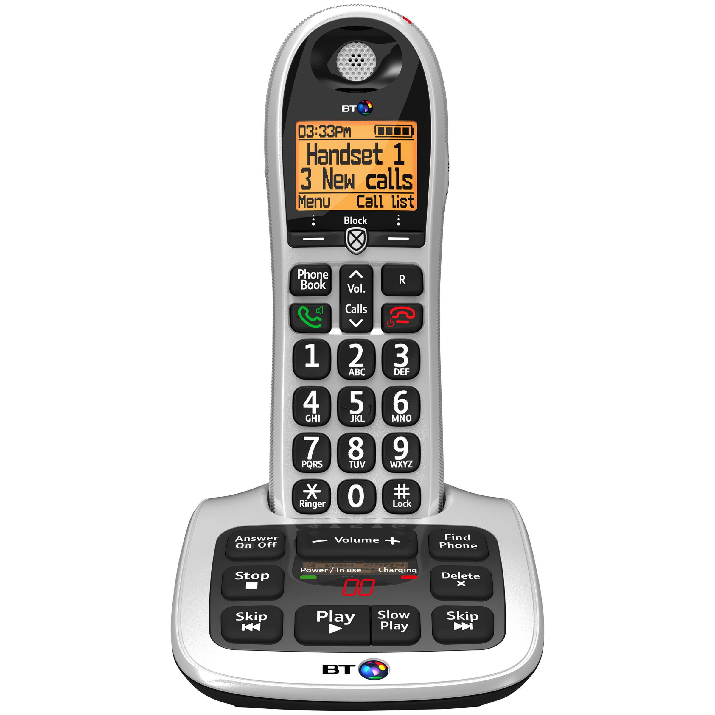 BT BT 4600 Big Button Digital Cordless Phone With Advanced Call Blocking & Answering Machine, Single DECT