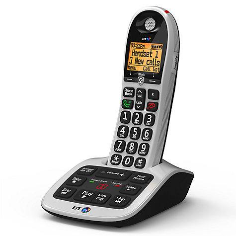 large button phone with answering machine